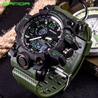 SANDA Watches Men Analog Quartz Digital Watch Waterproof Sports Watches for Men Silicone LED Electronic Watch Relogio Masculino