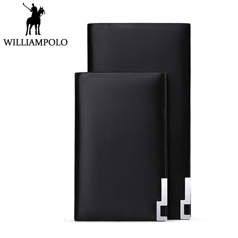 WILLIAMPOLO Genuine Leather Card Holder Men Credit Card Case Cowskin Black ID Card Wallet Holder For Men Fashion Brand Gift Male hot sale 2015 harrms famous brand men s leather wallet with credit card holder in dollar price and free shipping