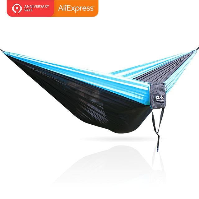 Hangmat 300 Cm.Blauw Zwart Blauw Hangmat 300 200 Cm 210 T Nylon In Blauw Zwart
