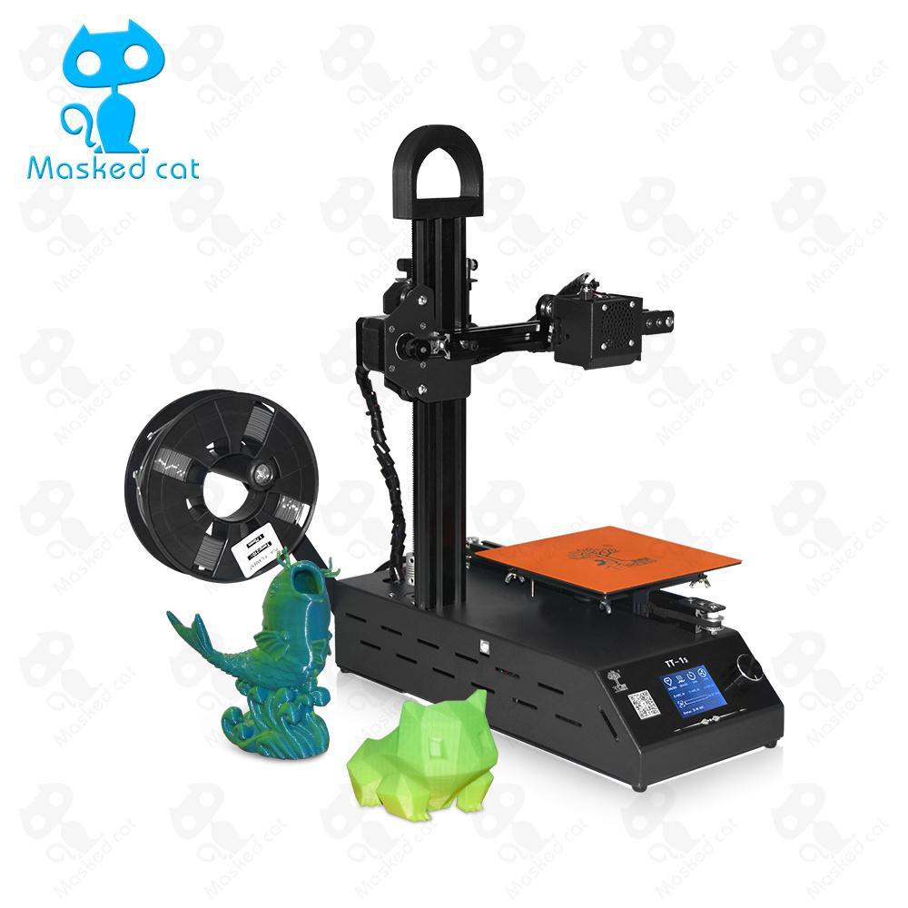 T-Trees 2018 TT-1s High-precision Mini Automatic Leveling 3D Printer, Home Fully Assembled DIY Printer 2018 new diy tt 1s mini 3d printer 220v 110v universal made from cn fully assembled supplied with 0 3kg filament in random color