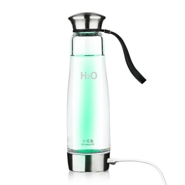XIAOMAOTU 500ML Hydrogen Water Generator Glass Bottle Healthy Hydrogen Rich Water Bottle High Borosilicate Glass Ionizer Bottle 1