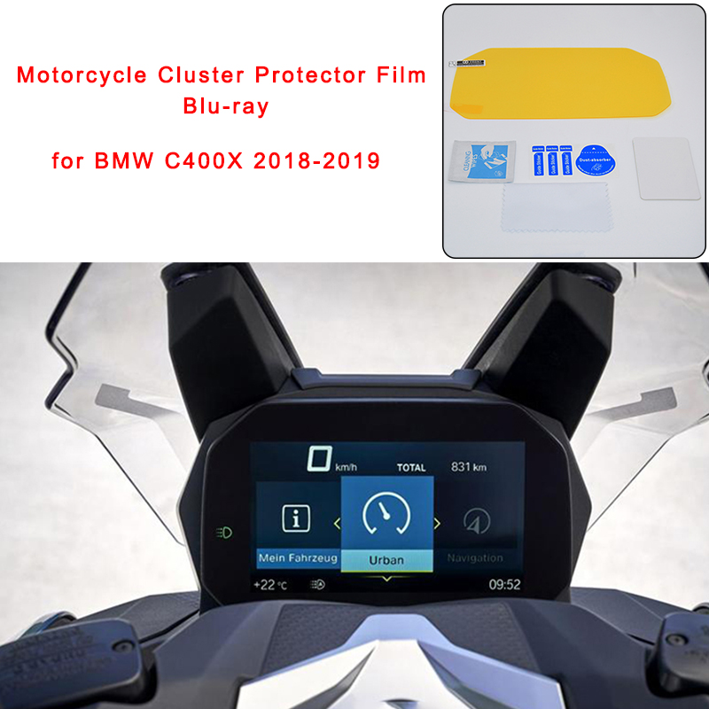 For BMW 2018 2019 C400X C 400 X Motorcycle Cluster Scratch Protector Film Blu-ray Speedo Guard for BMW C400X 2018-2019 (1)