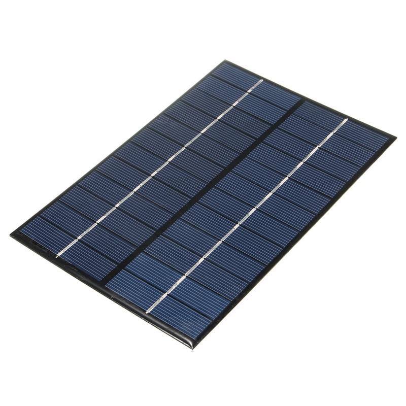 Solar Panel 12V 4.2W / 18V 4.2WPolycrystalline Silicon Solar Panel Portable Solar Cells Charger DIY Solar Module System black