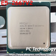 Original Intel Xeon processor E5 2667V2 3.30GHz 8 Core 25MB SmartCache E5 2667 V2  LGA2011 E5 2667 V2 official version E5 2667V2