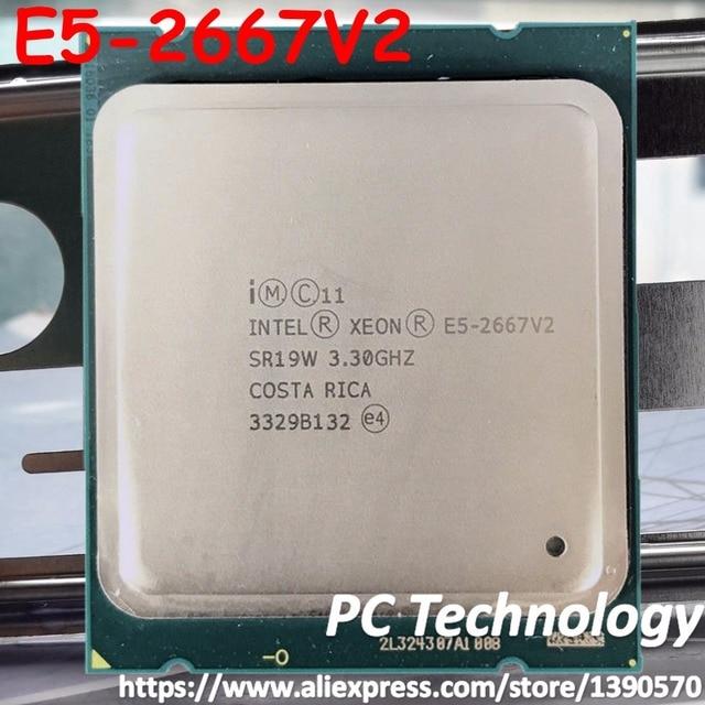 Processador original intel xeon E5 2667V2 3.30 ghz 8 core 25 mb smartcache e5 2667 v2 lga2011 E5 2667 v2 versão oficial e5 2667v2