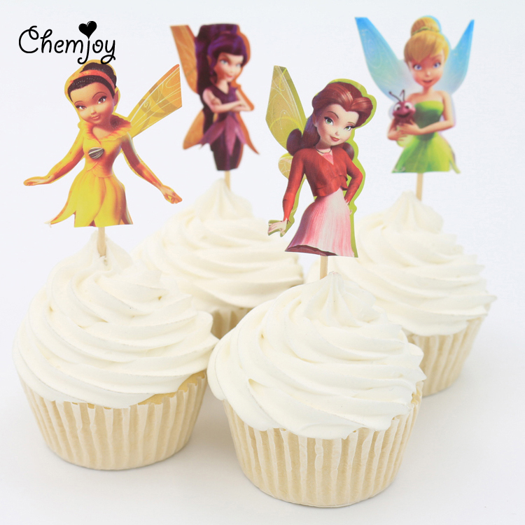 Buy 24pcs set little fairy cupcake for New home cupcake decorations
