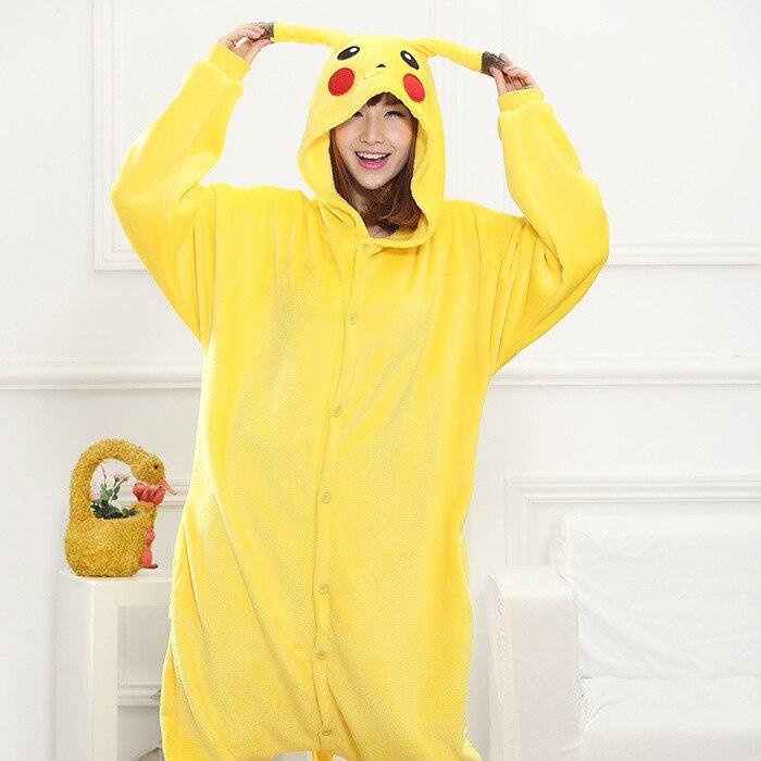 7b39b2f5b709 Pokemon Pikachu Cosplay Animal Hoodie Sleepwear Pajamas Adult Yellow Unisex Pikachu  Onesie Cosplay Costume Pikachu Pajamas