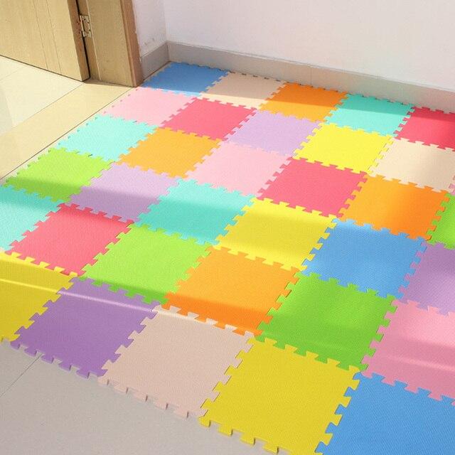 JCC 6 sztuk/zestaw dziecko piankowa mata do zabawy z puzzli eva/dzieci dywaniki zabawki dywan dla dzieci blokujące exersis podkładka podłogowa płytki, każdy: 32X32cm