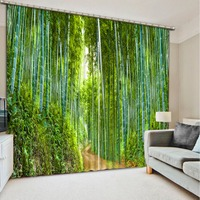 Window Curtain Living Room Green Forest Road 3d Curtain Fashion Decor Home Decoration For Bedroom