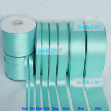 50mmTiffany Blue Solid Color Matte Polyester Satin Ribbon Rope Hairbow Wedding Party Decaration Gift Ribbon Cord,100yds/Roll/lot