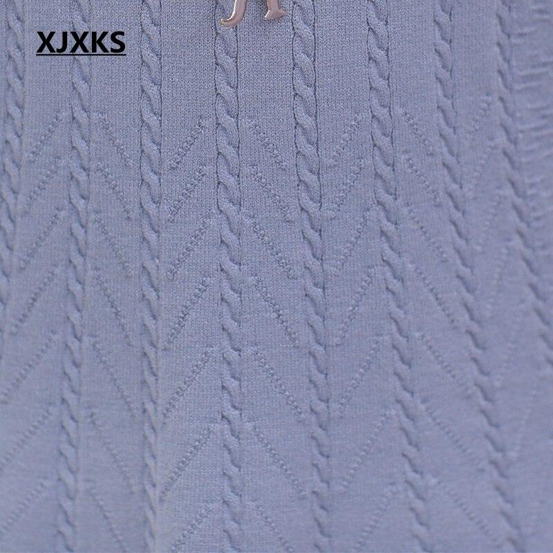 Lâche Élasticité À Roulé Col Nouvelle Invierno Femmes Red Noir Suéter Pull Robe Mode pull Long Demi bourgogne Bonne Xjxks bleu 2018 orange Mujer Fw87q6