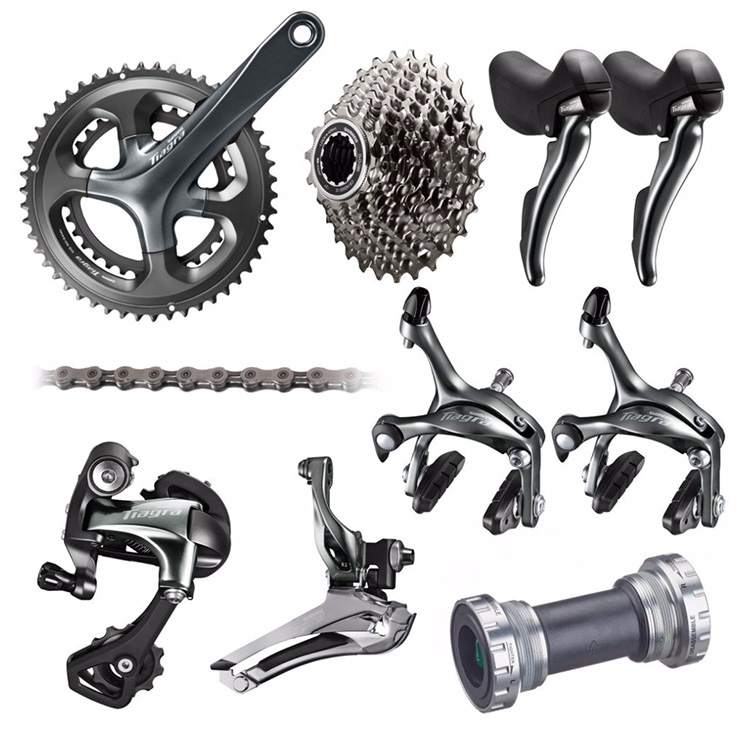 Shimano TIAGRA 4700 10 2*10 Speed 50/34 52/36 170mm 172.5mm Derailleurs and Brake Groupset for Road Bike Bicycle