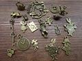 Mezcle 20 / 40 unids de alicia conejo colgante de bronce plata Alice en Wonderland Charm colgantes, reloj, clave, tetera