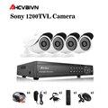 4CH HDMI DVR HD 720 P 1200TVL Im Freien Wasserdichte Cctv-kamera Home Security Kamera System 4CH DVR Kit sistemas de seguridad