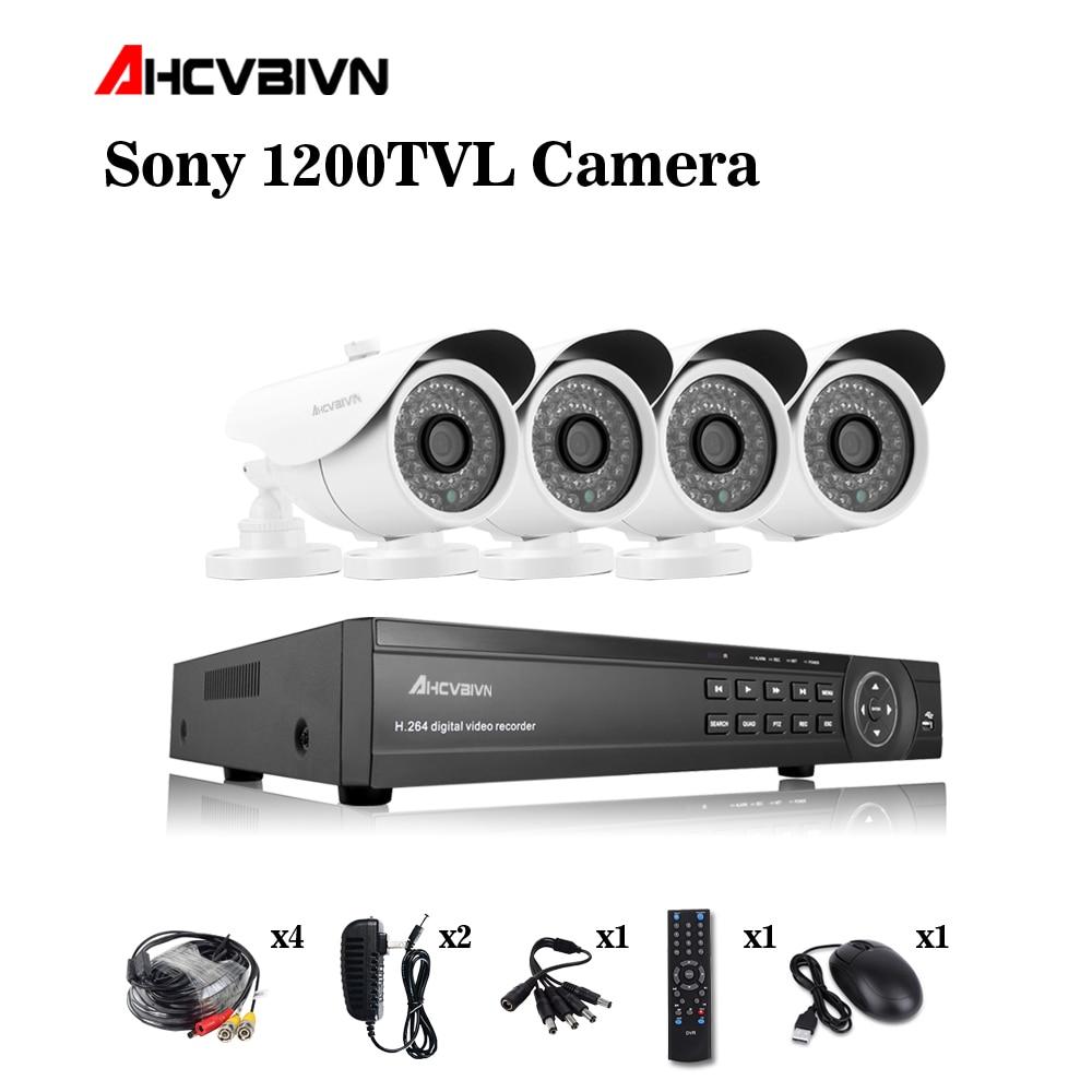 4CH HDMI DVR HD 720P 1200TVL Outdoor Waterproof CCTV Camera Home Security Camera System 4CH DVR Kit sistemas de seguridad