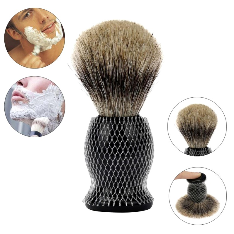 סקסי גבר 1PC גילוח מברשת טהור Badger שיער גילוח מברשת שרף ידית הטוב ביותר גילוח הספר