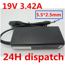 HSW Wholesale 19V 3.42A 5.5X2.5mm Laptop Charger AC Adapter Power Supply For toshiba/lenovo/asus aspire  1640 PA-1750-04 06