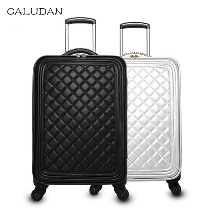 Rolling Luggage Luggage & Bags Able Caludan Lingge Leather Small Cabin Luggage Grils Handbag Luggage Bag 16/20/24 Inch Kinder Trolley Travel Suitcase For Women Delicacies Loved By All