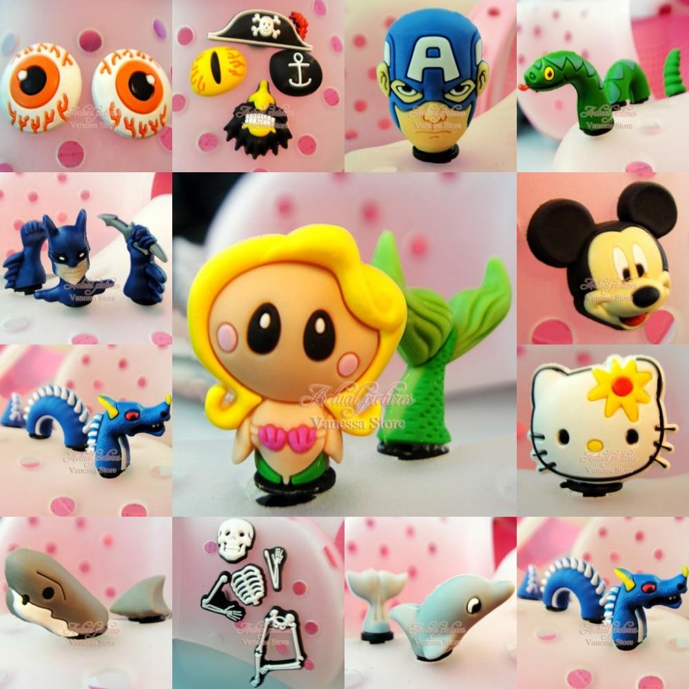1-5pcs Lot 3D Mermaid Avengers KT PVC shoe decoration/shoe charms/shoe accessories kids accessories party gifts цена