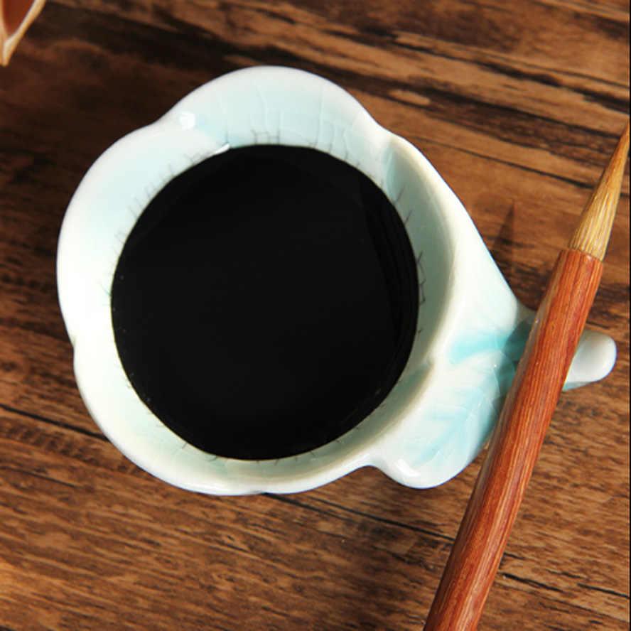 1 pezzo di ceramica Colorazione piatto piatto inchiostro Cinese Portapenne per pennello calligrafia pittura della penna della spazzola di Arte materiale scolastico