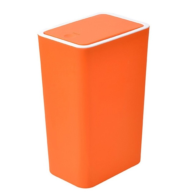 Bedroom Kitchen Trash Can Waste Garbage Bin Cleaning Storage Wastebasket  With Lid Rubbish Bin Garbage Can Office Accessories