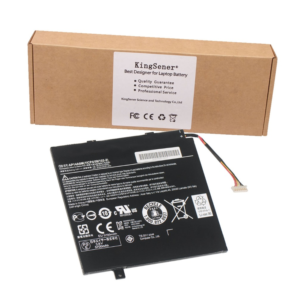 3.8V 5910mAh Original New AP14A8M Battery For Acer Aspire Switch 10 SW5-011 SW5-012 10-inch Tablet PC Free 2 Years Warranty
