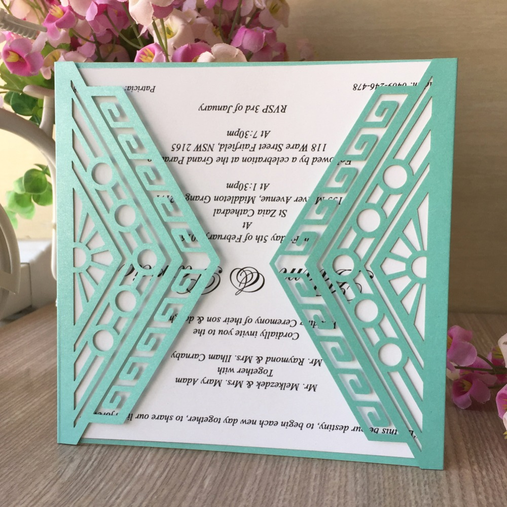 Wedding Invitations Business: 30pcs/lot Exquisite Laser Cut Birthday Party Decorations