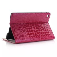 Fashion High Quality Slim Crocodile Leather Case For IPad Mini 4 Mini4 Smart Cover With Stand