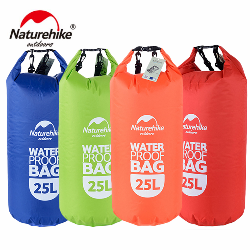 Naturehike Portable 25L Waterproof Bag Storage Dry Bag for Canoe Boating Rafting Sports Outdoor Camping Equipment Travel Kits