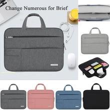 цены Men Women Portable Notebook Sleeve Handbag Air Pro 11 12 13 14 15.6 Laptop Bag Case For Macbook Xiaomi Dell HP Surface pro 3 4