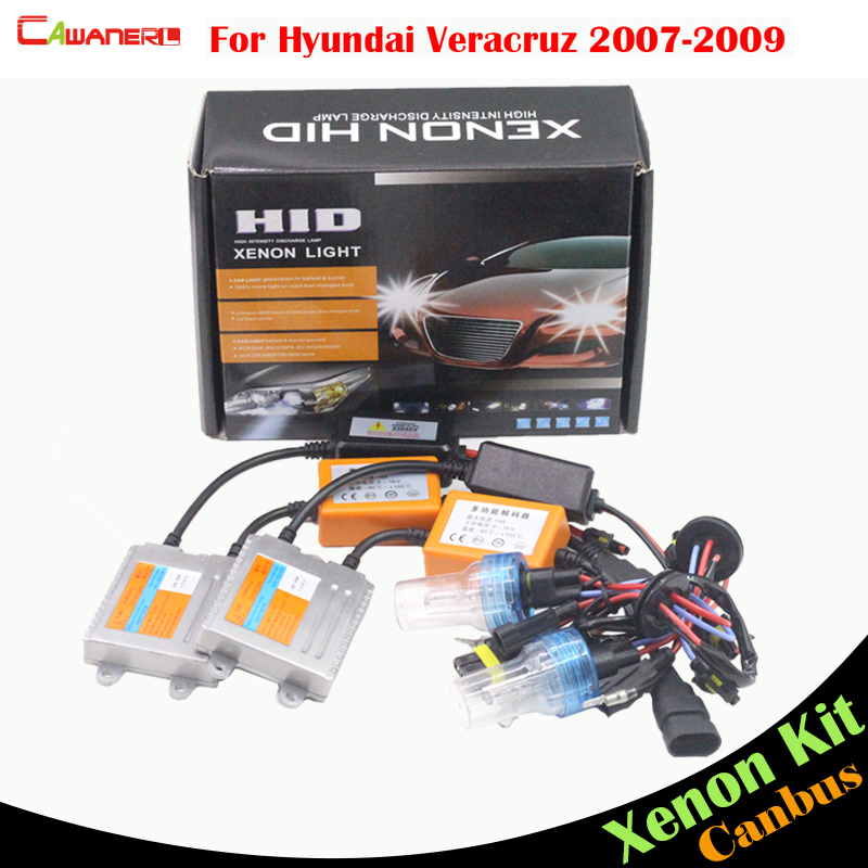 Cawanerl 55W Auto Canbus HID Xenon Kit AC Bulb Ballast 3000K-8000K Car Headlight Low Beam For Hyundai Veracruz 2007 2008 2009
