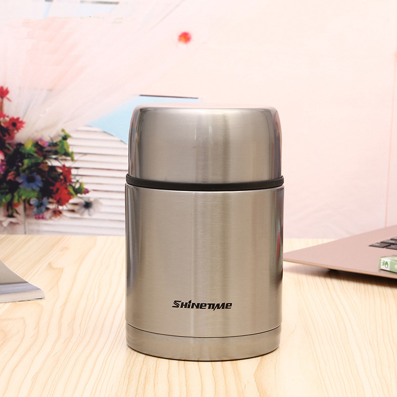 700ml Thermos stainless steel food container portable bag thermal lunch box gold soup jar children termos outside present brush700ml Thermos stainless steel food container portable bag thermal lunch box gold soup jar children termos outside present brush