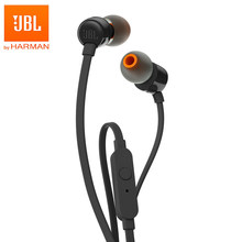 JBL T110 3.5mm Wired Headphones Stereo Music Bass Headset Sports Earphone In-line Control Hands-free with Mic Earbuds(China)
