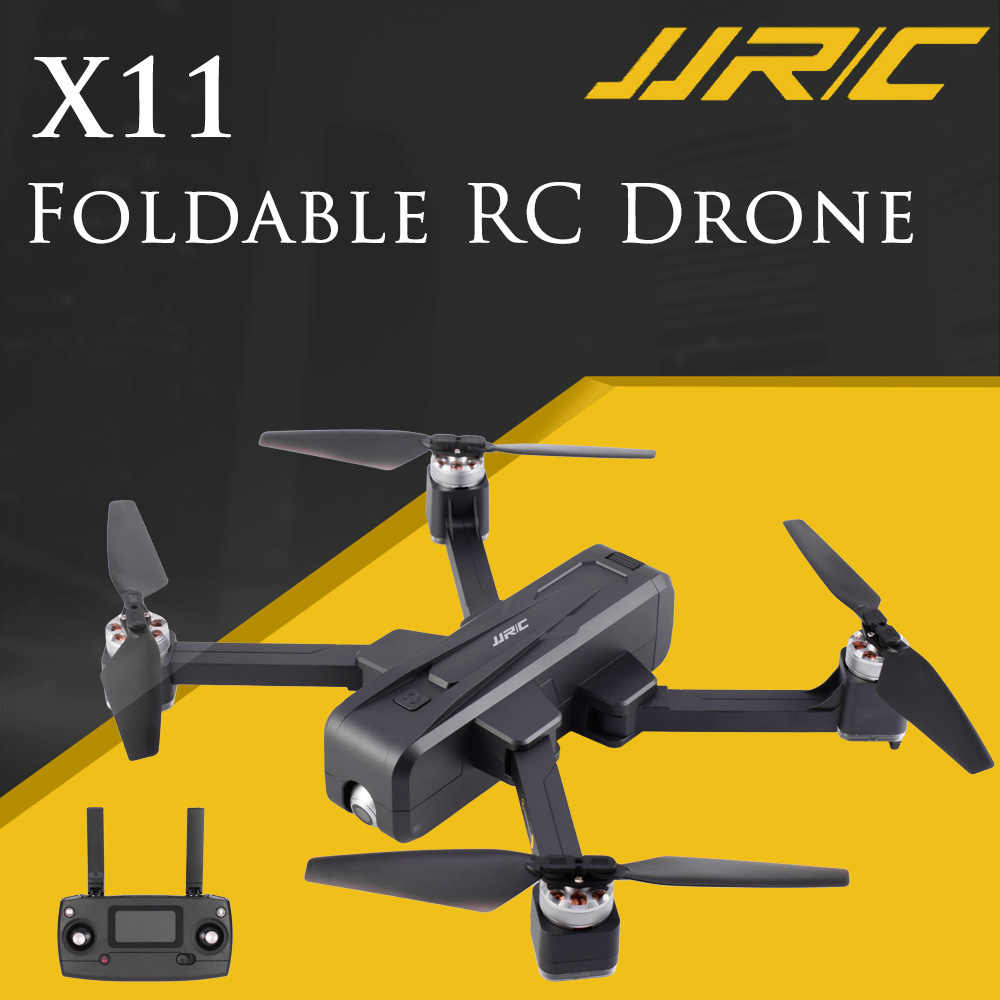 JJRC X11 Foldable RC Drone 5G WIFI FPV 2K Camera GPS 20min Flight Time Optical Flow Positioning Remote Controller Quadcopter RTF