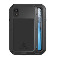 LOVE MEI 3 in one Phone Case for iPhone XR Shockproof Splash proof Dust proof Defender Metal Cover Case for iPhone XR Pouch Capa
