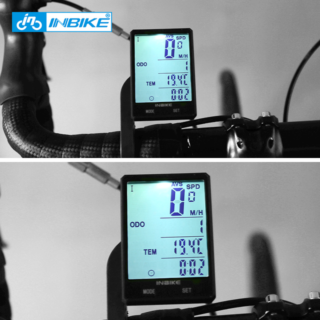 "Inbike rainproof large screen bicycle computer 2.8"" wireless bike computer speedometer odometer cycling measurable stopwatch"