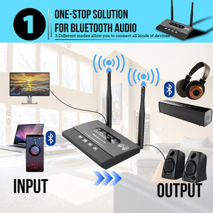 Image 2 - 3 In 1 Long Range Bluetooth 5.0 Transmitter Receiver NFC Audio Adapter aptX LL HD Optical 3.5mm RCA AUX for TV/Home Stereo