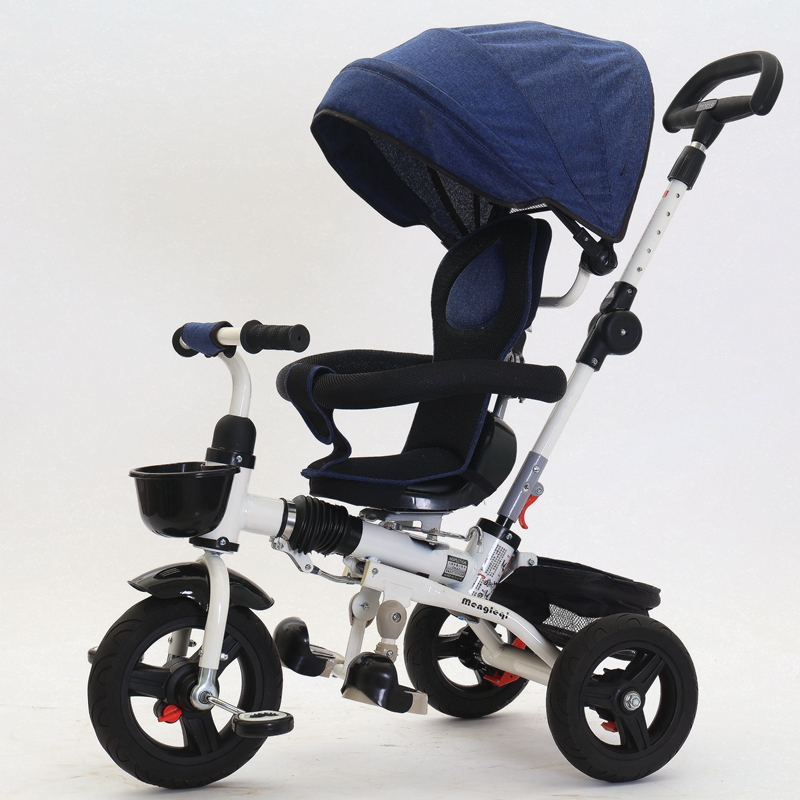 2018 new folding children's tricycle rotating seat self-propelled cart 1-12 years old can apply to sit can lie