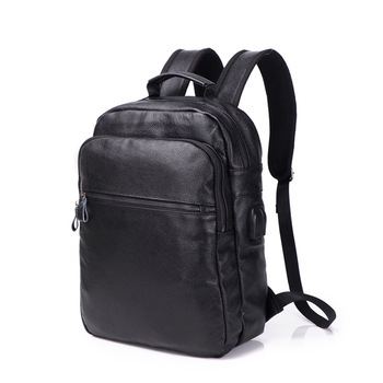 2018 New Style Hot Sale Men Genuine Leather Backpacks Male Fashion Laptop Computer Bag Student Travel Rucksack School Bags