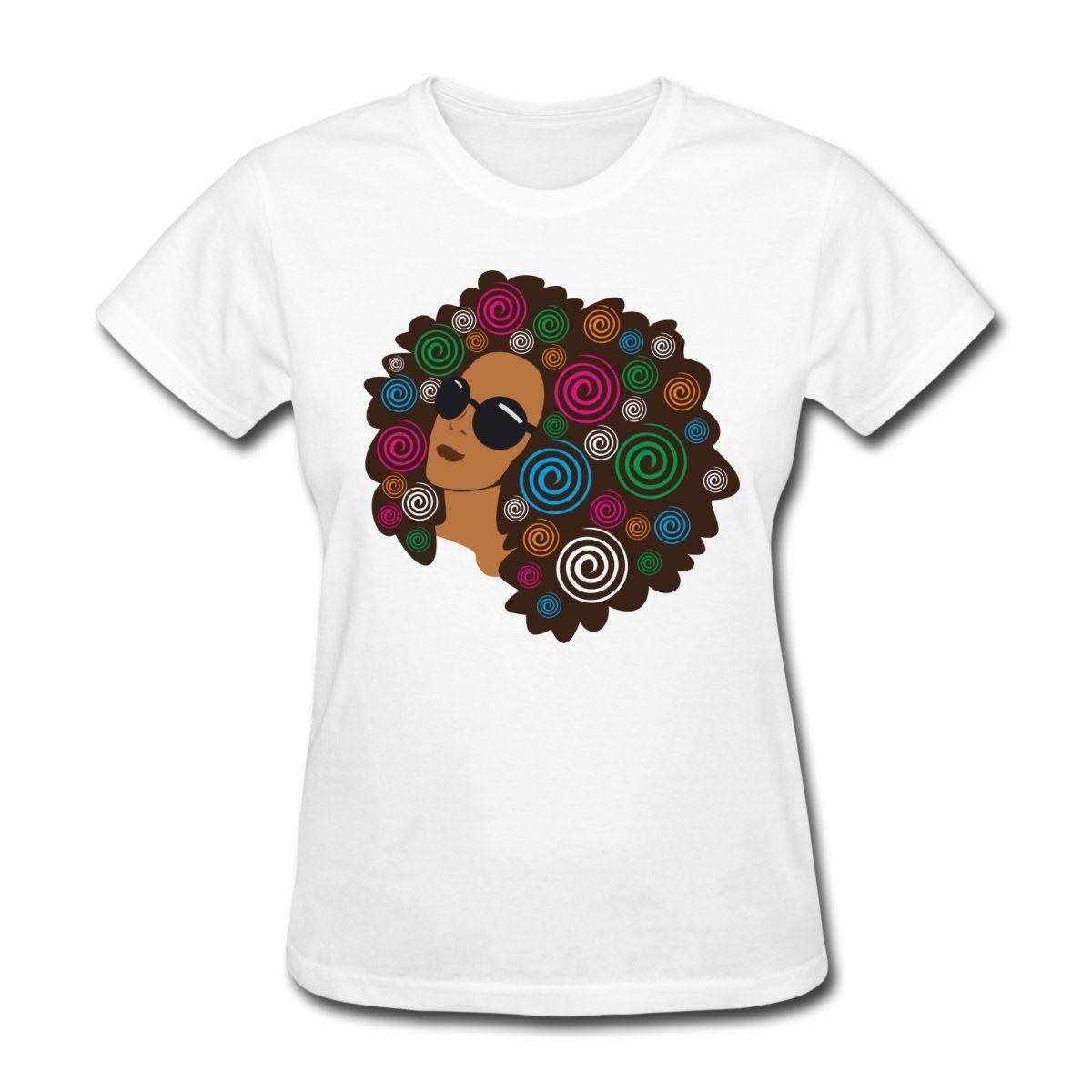 Natural hair big bold afro women 39 s t shirt natural cotton for Natural cotton t shirts
