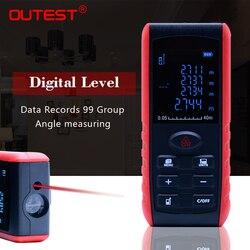 OUTEST laser distance meter 40m/60m/80m/100m rangefinder trena laser tape range finder build measure device ruler test tool