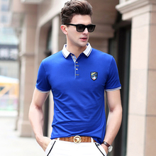 High Quality Men's Clothing Fashion Polo Shirt Short Sleeve Cotton Polo for Summer Brand Polo New 203