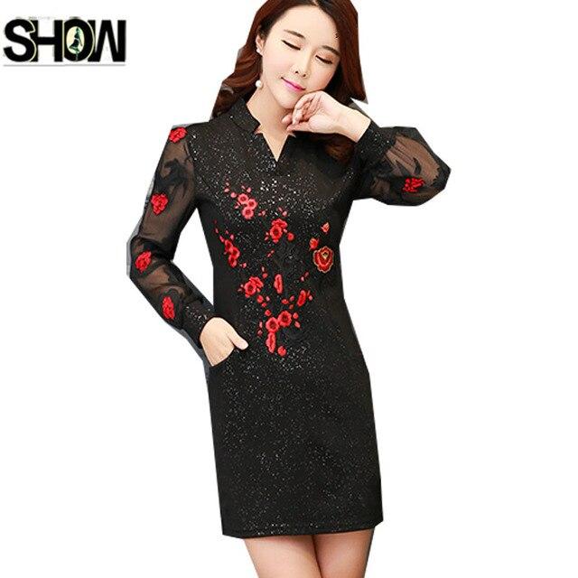 8347d9aace 2019 primavera básica Mini vestidos de manga larga de las mujeres Slim  elegante Oficina dama trabajo