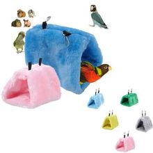 Модная плюшевая птица, подвесная пещерная клетка, уютная хижина, палатка, кровать, птицы, зимнее теплое гнездо, птица, попугай, конюр, двухъярусная игрушка, попугай, гамак