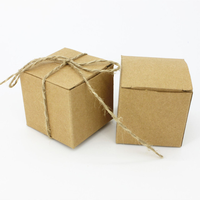 100pcslot kraft paper candy box wedding gift box event party supplies decoration mariage vintage - Aliexpress Decoration Mariage