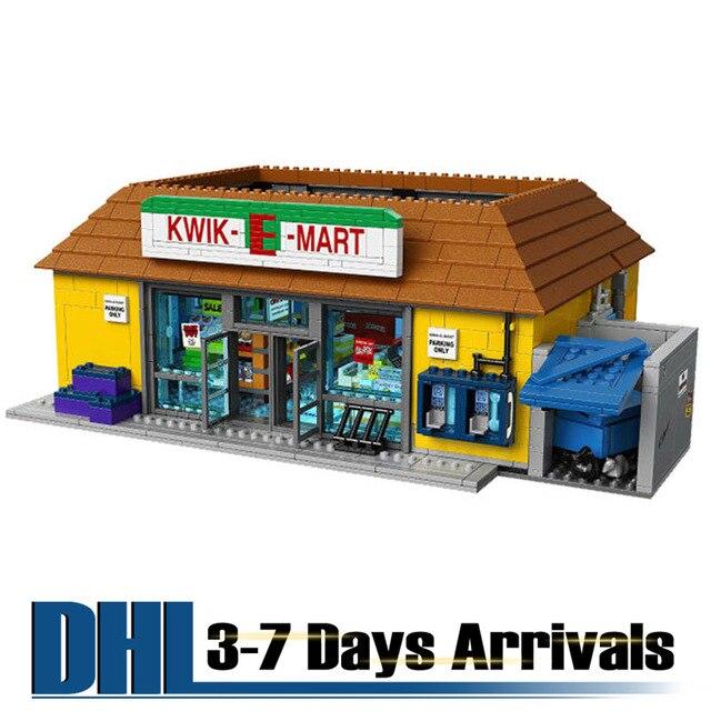 DHL Бесплатная Доставка Симпсон Kwik-E-Mart Модель Строительство Комплекты Пластиковые Игрушки Для Детей Образовательных Головоломки Кирпичи 16004