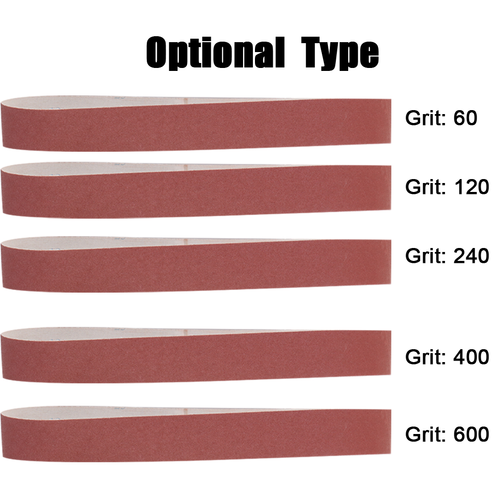 10pcs 740*40mm Sanding Belts 60-600 Grit Grinding and Polishing Replacement for Angle Grinder