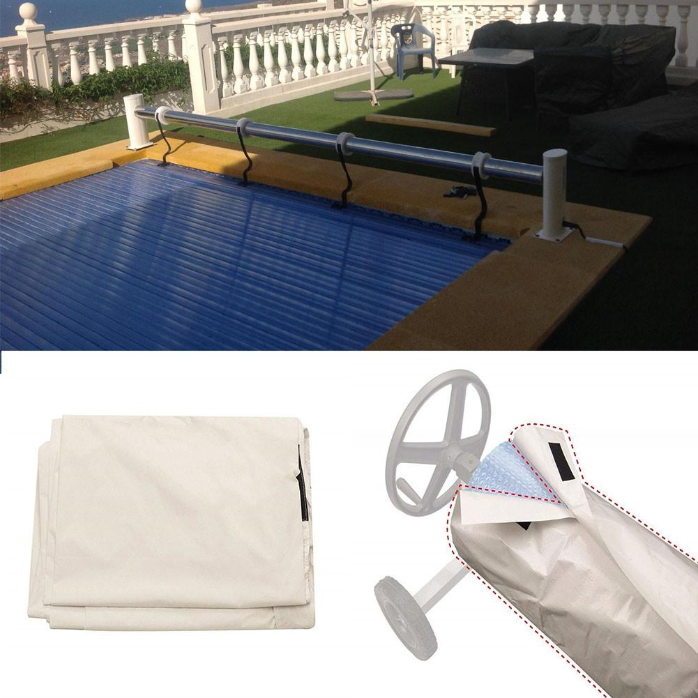 US $14.59 37% OFF Swimming Pool Cover Solar Blanket Reel Protective Cover  Waterproof Sun screen Cover For Home-in Shade Sails & Nets from Home & ...