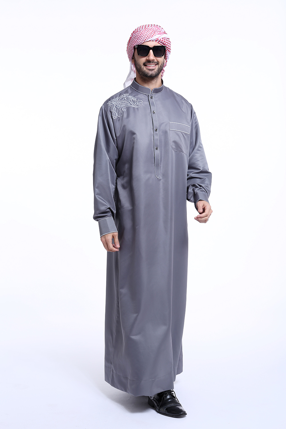 free shipping long sleeves new design muslim man gown dubai men abaya