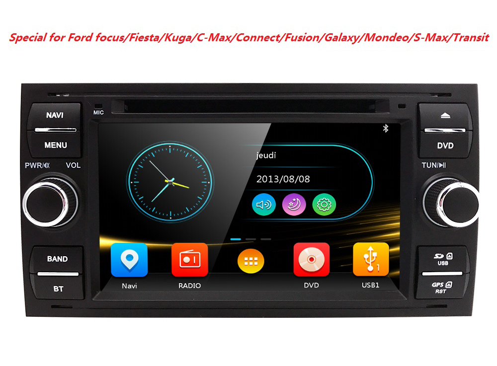 7 Car DVD player with GPS BT/TV USB SD,audio Radio stereo,Car multimedia headunit for FORD FOCUS/MONDEO/S-MAX/CONNECT 2005-2007